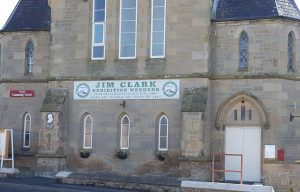 Community Centre with Jim Clark banner