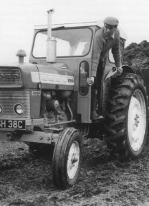 Jim Clark on Ford tractor