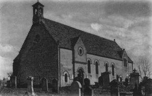 Chirnside Church from a postcard