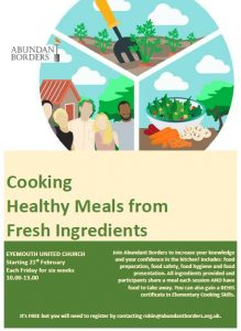 Cooking healthy meals from fresh ingredients @ Eyemouth United Congregational Church   Eyemouth   United Kingdom